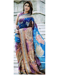 Multicoloured-Saree