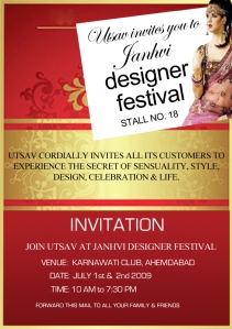 Utsav invites all to Janvi designer festival