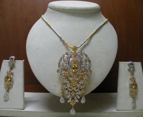 white american diamond pendent