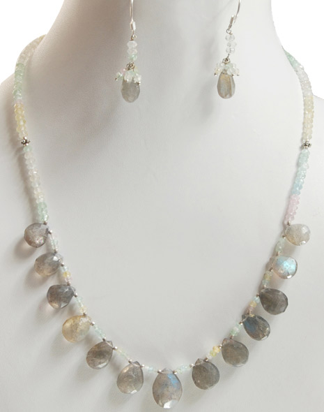 White Beads Strung Necklace