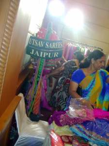 Customers at exhibition in Indore