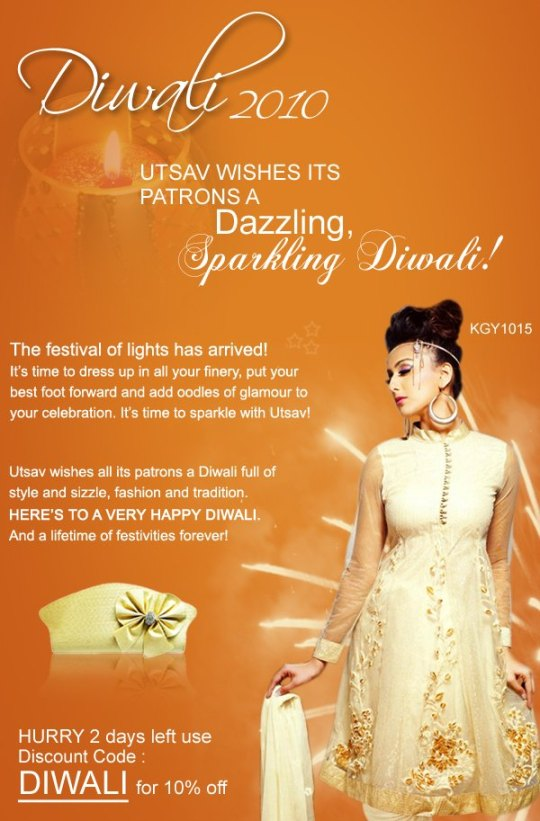 Utsav wishes a safe and happy Diwali to all its customers