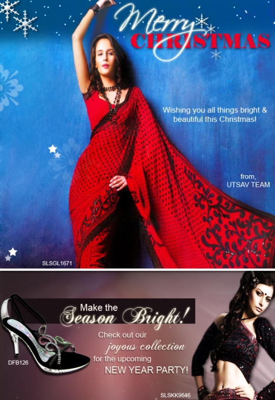 Utsav wishes you all bright and beautiful things this Christmas