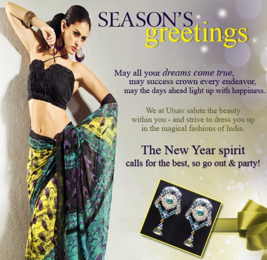 Enjoy the spirits of New Year with exclusive Utsav Collection