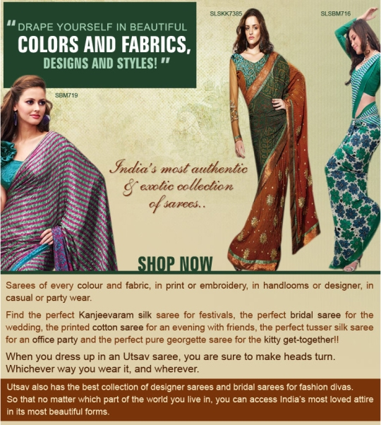 Exotic collection of sarees unfolds in the Utsav