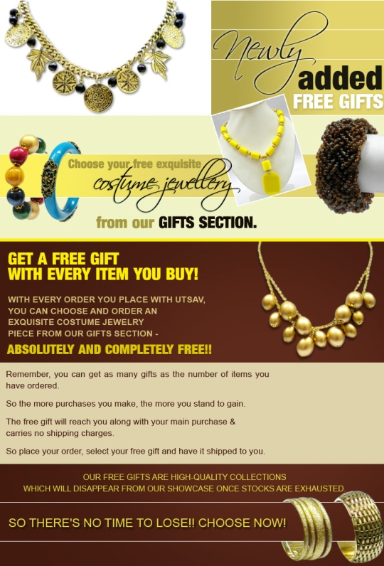 Check out the newly added gifts at UTSAV!