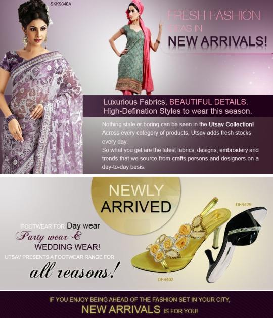 Fresh fashion ideas in new arrivals at UTSAV!