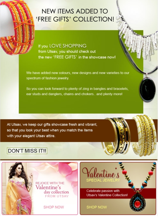 New free gifts added - Shop now to get the best at UTSAV