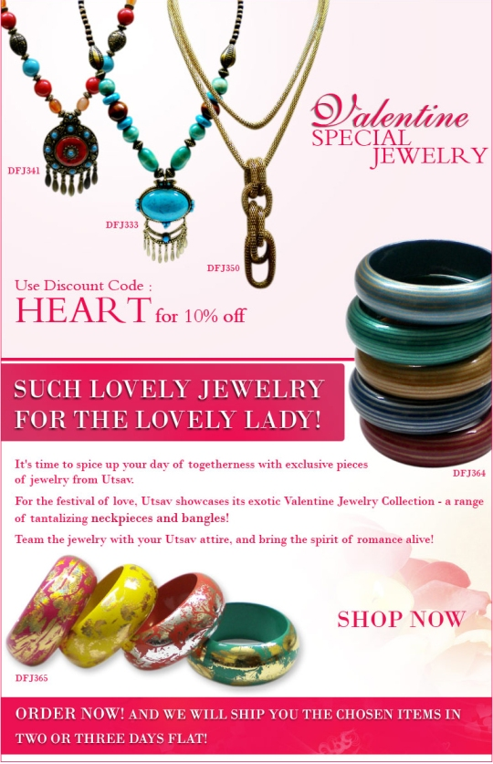 Valentine special jewelry at attractive prices at UTSAV
