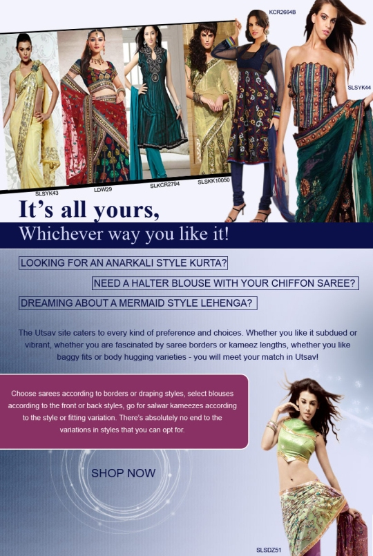 Stylez - It's all yours, whichever way you like it at UTSAV!